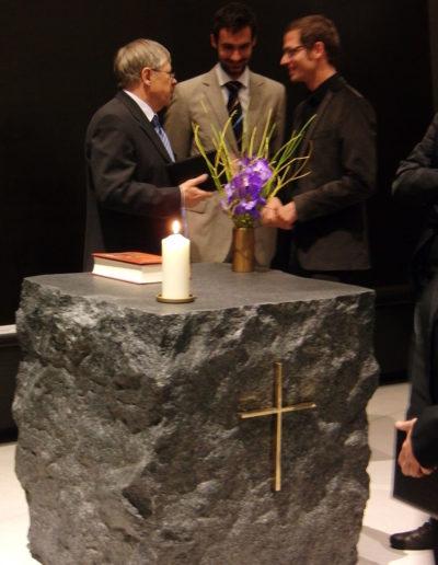 """Altar, Tabernakel, Ewiges Licht für """"Haus der Stille"""""""