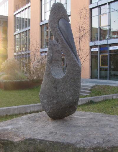 "Skulptur ""Schwarzer Schwan"""